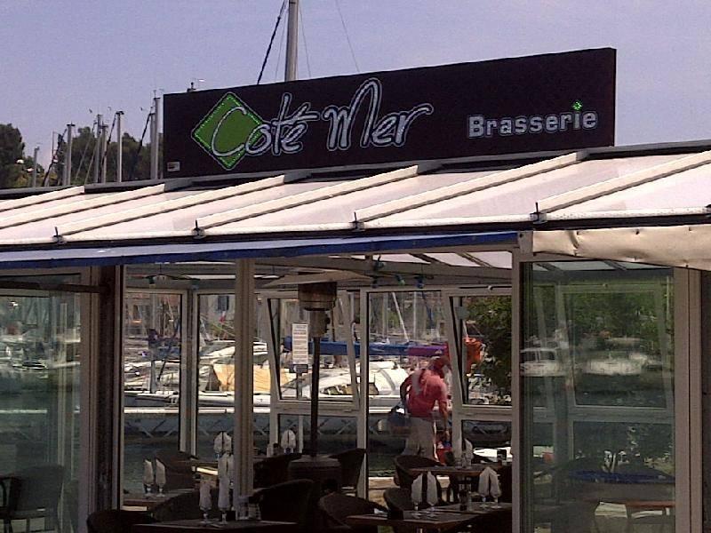 Enseigne en caisson pour le restaurant cote mer saint mandrier for Restaurant st mandrier